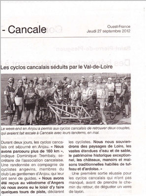 Ouest-France du 27/09/2012