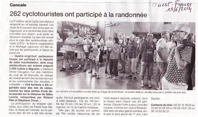 Ouest-France du 19/06/2014