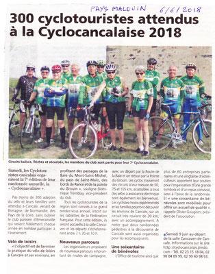 Le Pays Malouin 6 juin 2018 Cyclocancalaise