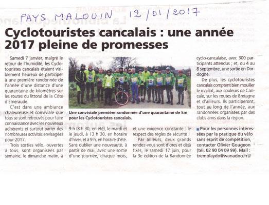 Pays Malouin 12/01/2017 - Sortie Galette des rois
