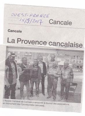 ouest-france 15/05/2017 Bravo les pétanqueurs