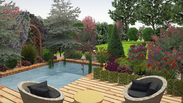 Création d'un espace zen , détente avec bassin