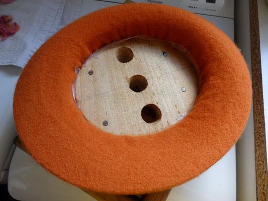 Chapeau en laine en création