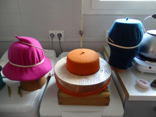 Séchage des chapeaux