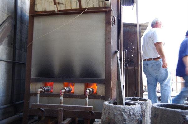脱蝋に使用するガス窯
