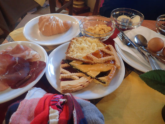 初めてのローマの朝食