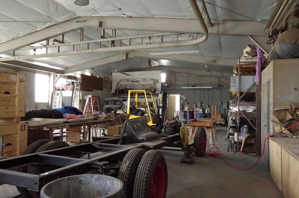 鋳造スタジオ内部