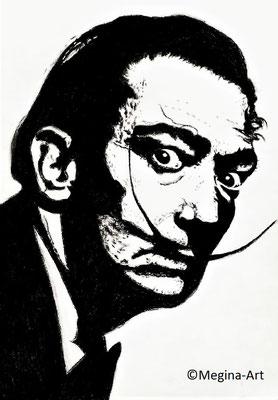 *Salvador Dali*; Kohlezeichnung