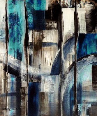 OT, abstrakt, Acryl 50x60