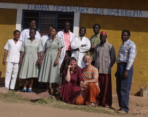 das Team der Gesundheitsstation in Kalinzi