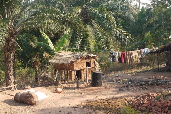 Vorratshaltung für Maiskolben in afrikanisch