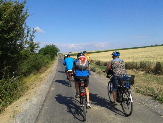 wir weihen den neuen Radweg nach Rutesheim ein