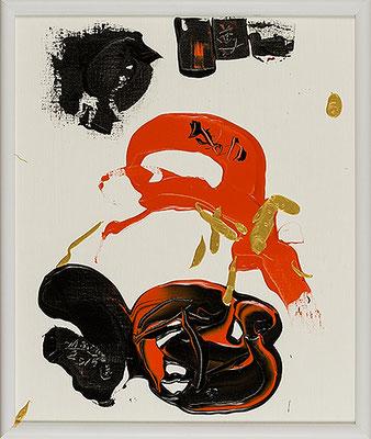 不動尊7 Acala 7, 2015, 48.2 x 40.6 cm Acrylic on canvas
