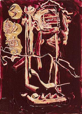 不動尊 Acala, 2018, 33.3 x 24.2 cm Acrylic on canvas