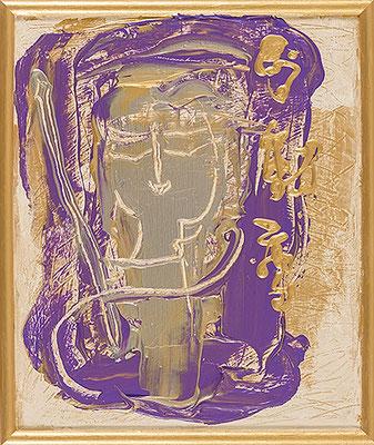 不動尊 Acala, 2017, 48.2 x 40.6 cm Acrylic on canvas