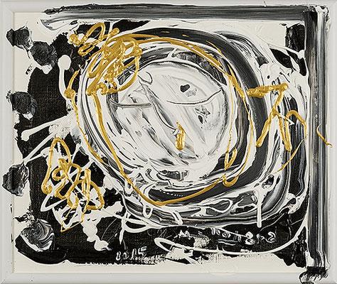 不動尊4 Acala 4, 2015, 40.6 x 48.2 cm Acrylic on canvas