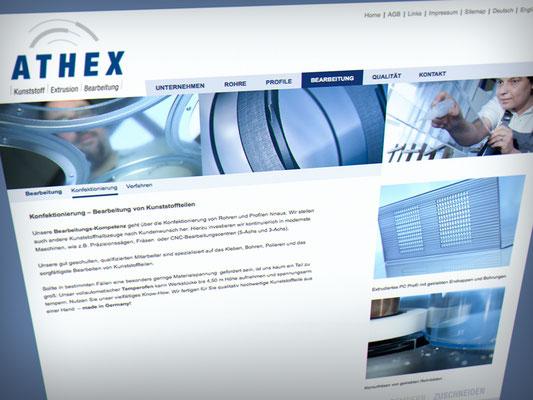 Athex Kunststoff-Extrusion und Bearbeitung