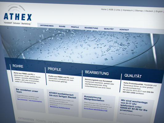 Athex Kunststoff-Extrusion und Bearbeitung – neue Webseite