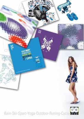 Création d'imprimés et design pour le textile et matériel