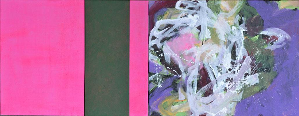 """""""Diptychon"""", 60 x 160 cm, Acryl auf Leinen, 2013"""
