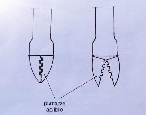 tubo-forma per pali simplex (esempio di punta apribile)