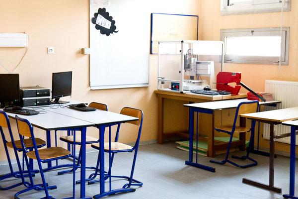 Une salle de technologie.