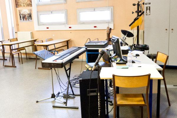 La salle de musique.