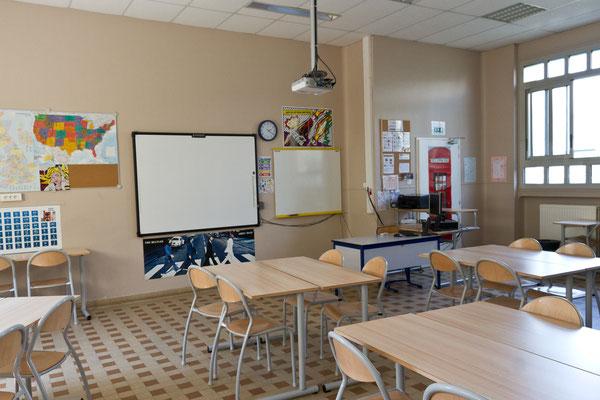 Une salle d'anglais.