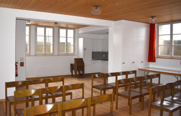 … bietet Platz für zirka 40 Personen.