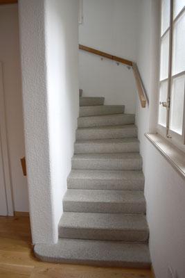 Die Treppe zur Empore