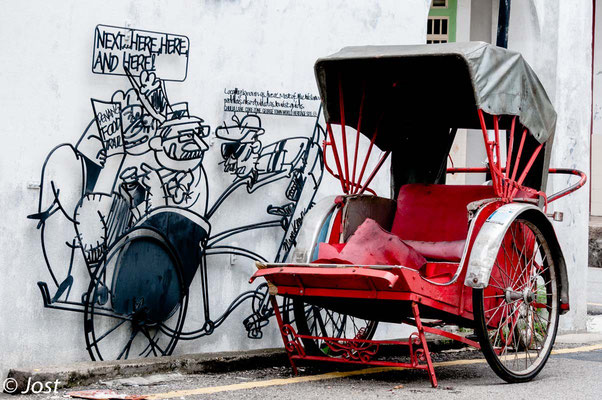Street Art Penang George Town; Mobility