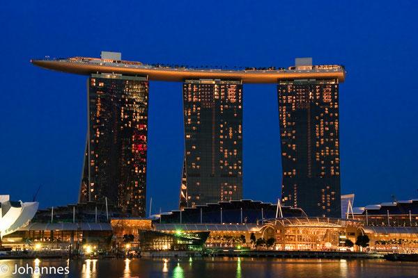 Singapur Night at Inner Harbour