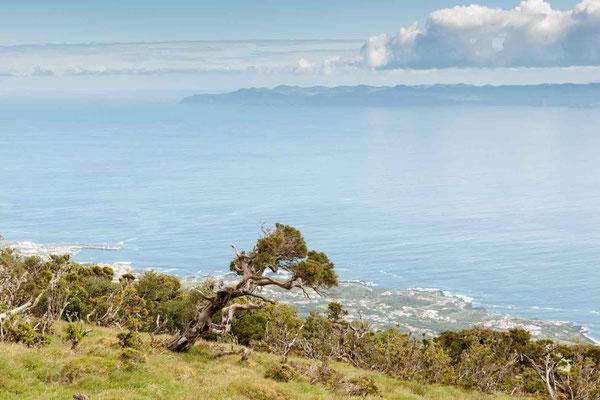 Blick auf die Nordküste von Pico und die Nachbarinsel Sao Jorge