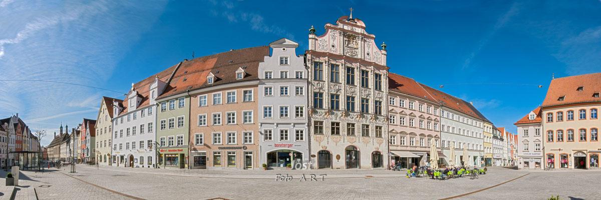 Panorama - Landsberger Hauptplatz mit Rathaus