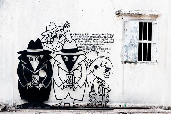 Street Art Penang George Town; 2nd job of a photographer