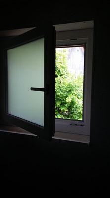 Kunststofffenster satiniert