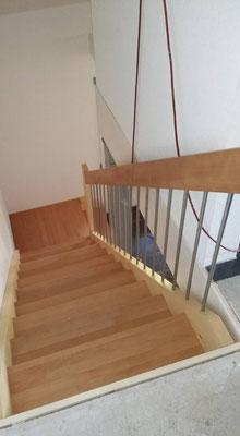 Treppe mit Buchentritten