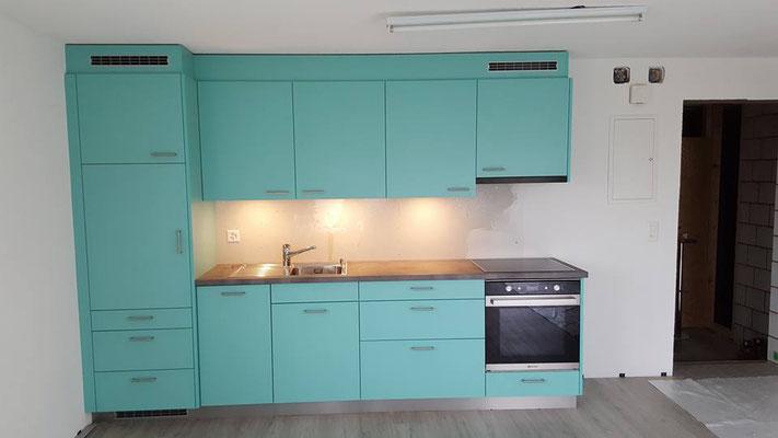 Küche in Studiowohnung