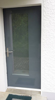 Eingangstüre Holz/Metall