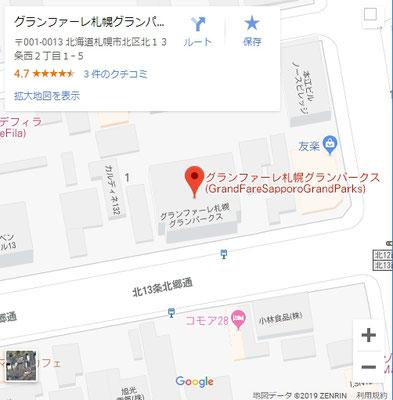 Google_Map_GrandFareSapporoGrandParks