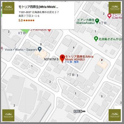 Google_Map#モトリア西麻生(Mtria Nhishi ASABU)