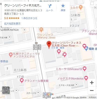 Google_Map_CleanRaverFinesseHokkaidoUniversityFirst