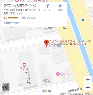 Google_Map_LaClasseSapporoStationLinea