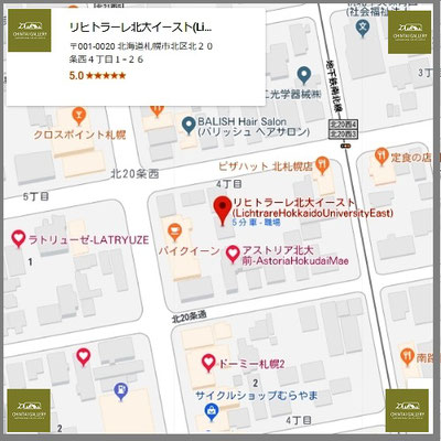 Google_Map_リヒトラーレ北大イースト  (Lichtrare Hokkaido University East)