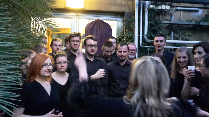 Chorus of the Med.Universität Lublin 2015 in Jena, graduation