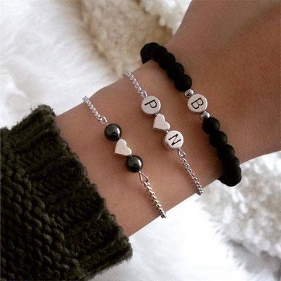 Bei SR Jewelry das perfekte Geschenk finden. Partnerschmuck online kaufen. Partnerarmbänder mit Gravur. Schneller Versand.
