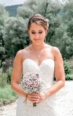 Kette Hochzeit Perlen Rückenkette Perlenkette Braut Glastropfen