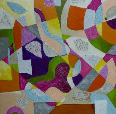 Frühlingsliebe, Acryl auf Leinwand, 50x50 cm, 280 €