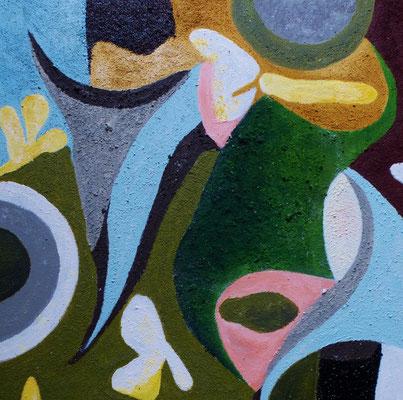 o.T., Acryl auf Leinwand, 40x40 cm, 180 €