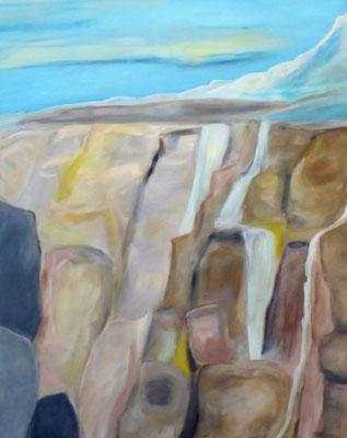 Wasserfall, Acryl auf Leinwand, 100x80 cm, 850 €